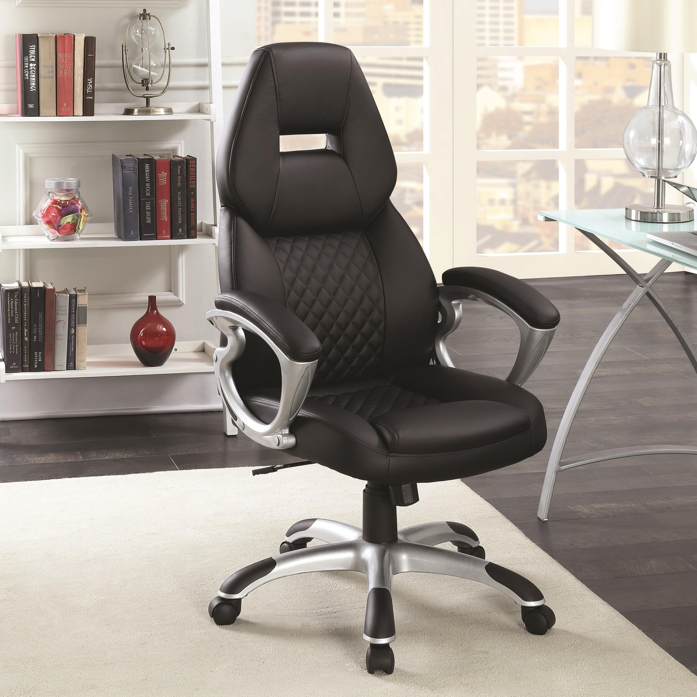 Work Chair Office Chairs High Back Office Chair By Coaster At Dunk Bright Furniture