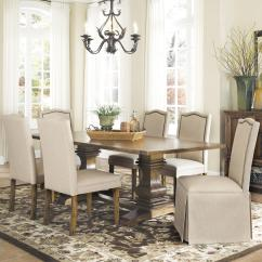 Parson Chairs Poker Table And Coaster Parkins 7 Piece Dining Chair Set With