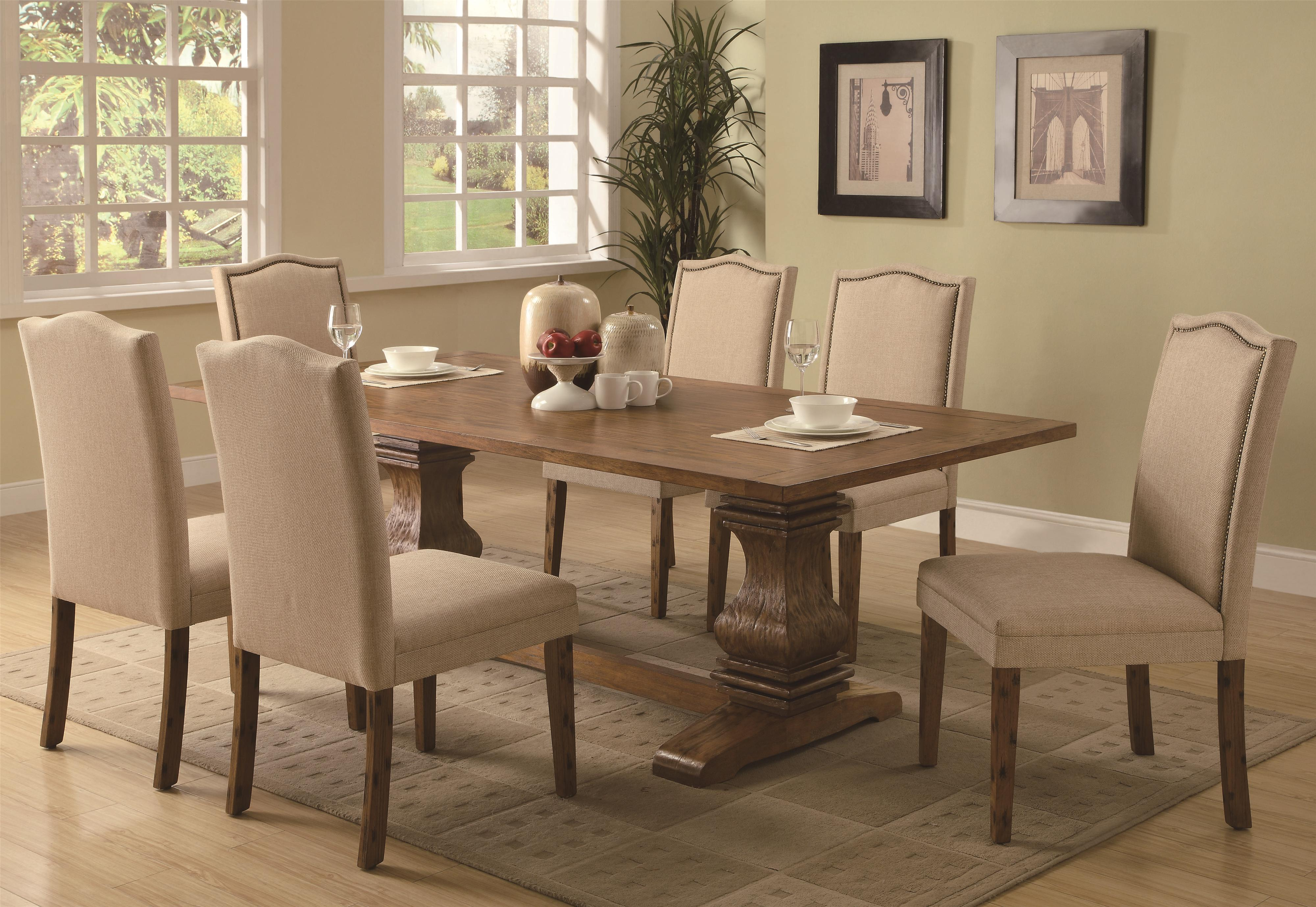 parson chairs oakland raiders chair coaster parkins 7 piece dining table and set value