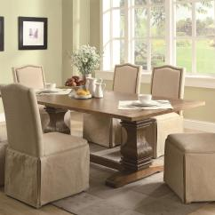 2 Chair Dining Set Bedroom Vanity With Back Coaster Parkins 7 Piece Table And Parson Skirted