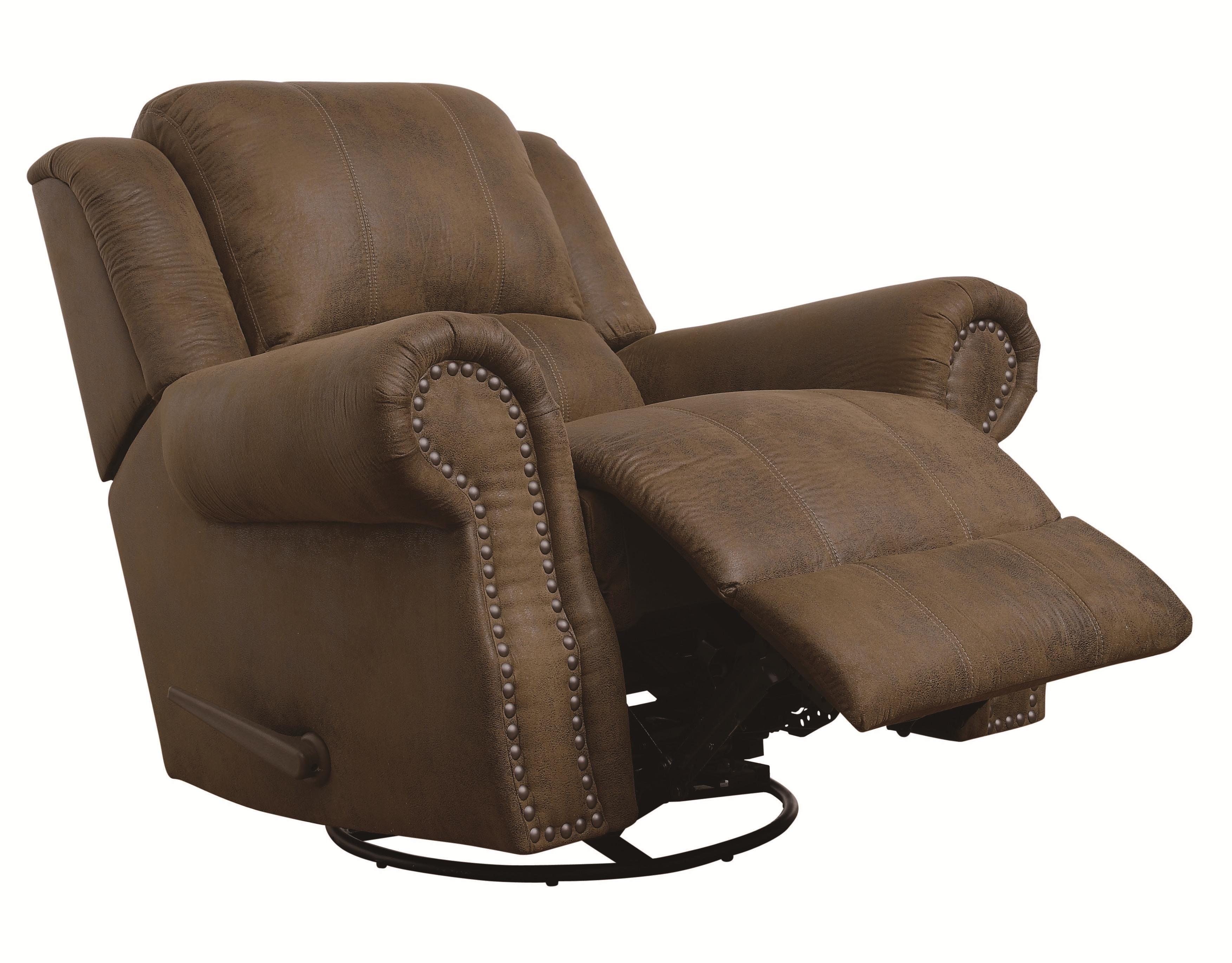 Swivel Rocker Recliner Chair Sir Rawlinson Traditional Swivel Rocker Recliner With Nailhead Studs By Coaster At Dunk Bright Furniture