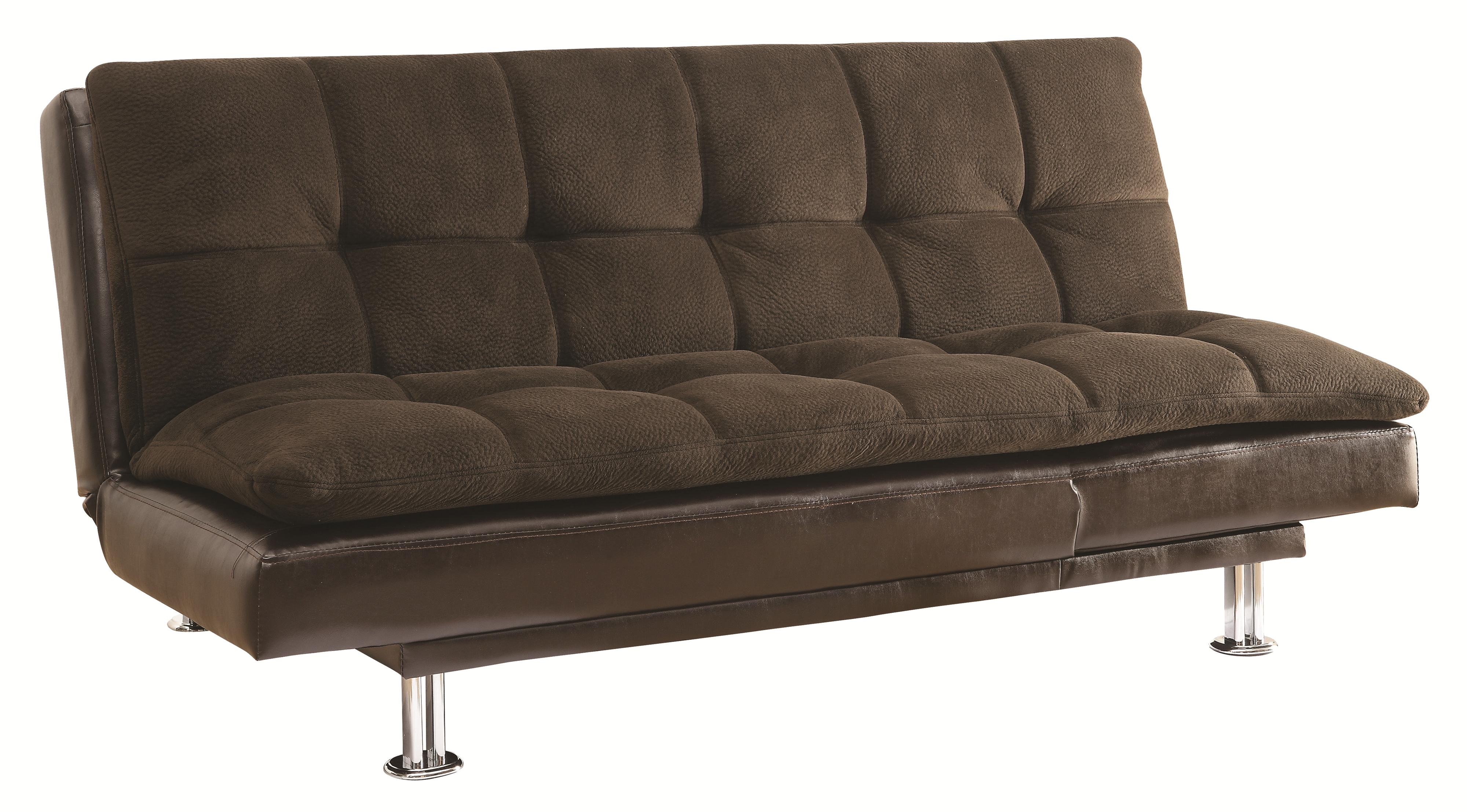 Coaster Sofa Beds and Futons 300313 Millie Sofa Bed with Chrome Legs and Casual Style  Del Sol