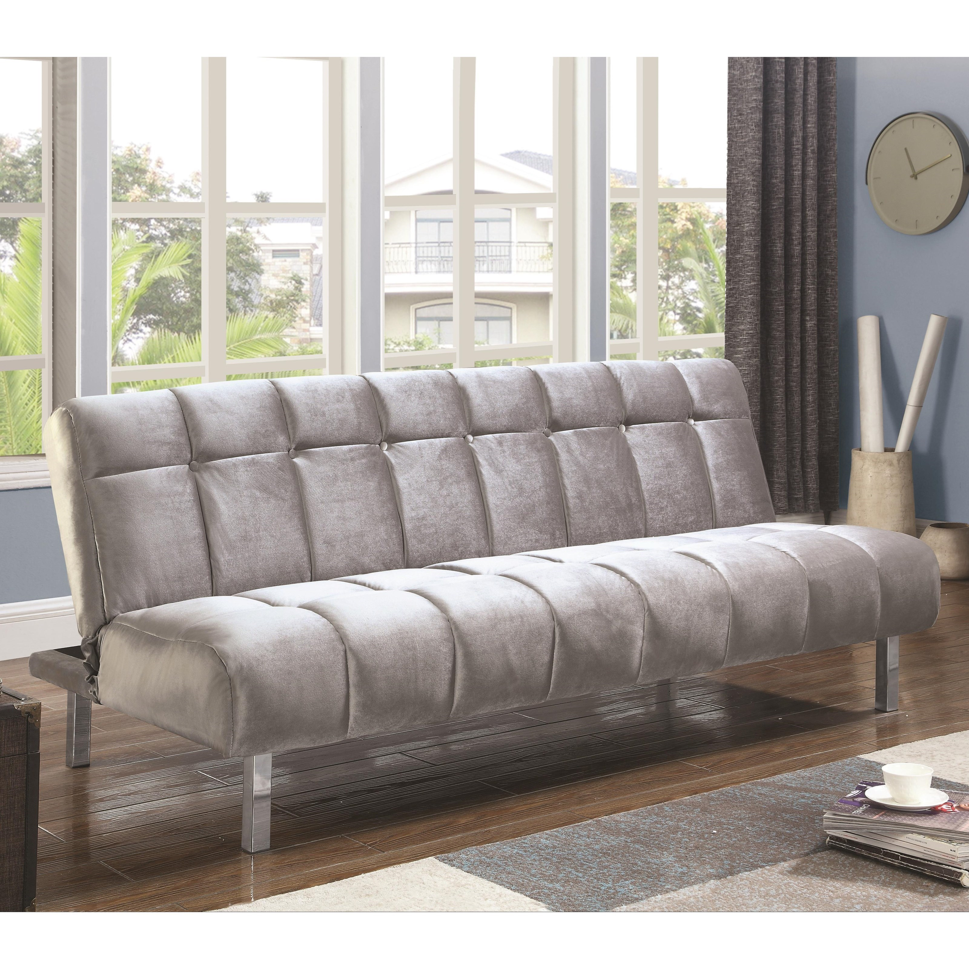 Coaster Sofa Beds and Futons Contemporary Sofa Bed with Channeled Design  Value City Furniture