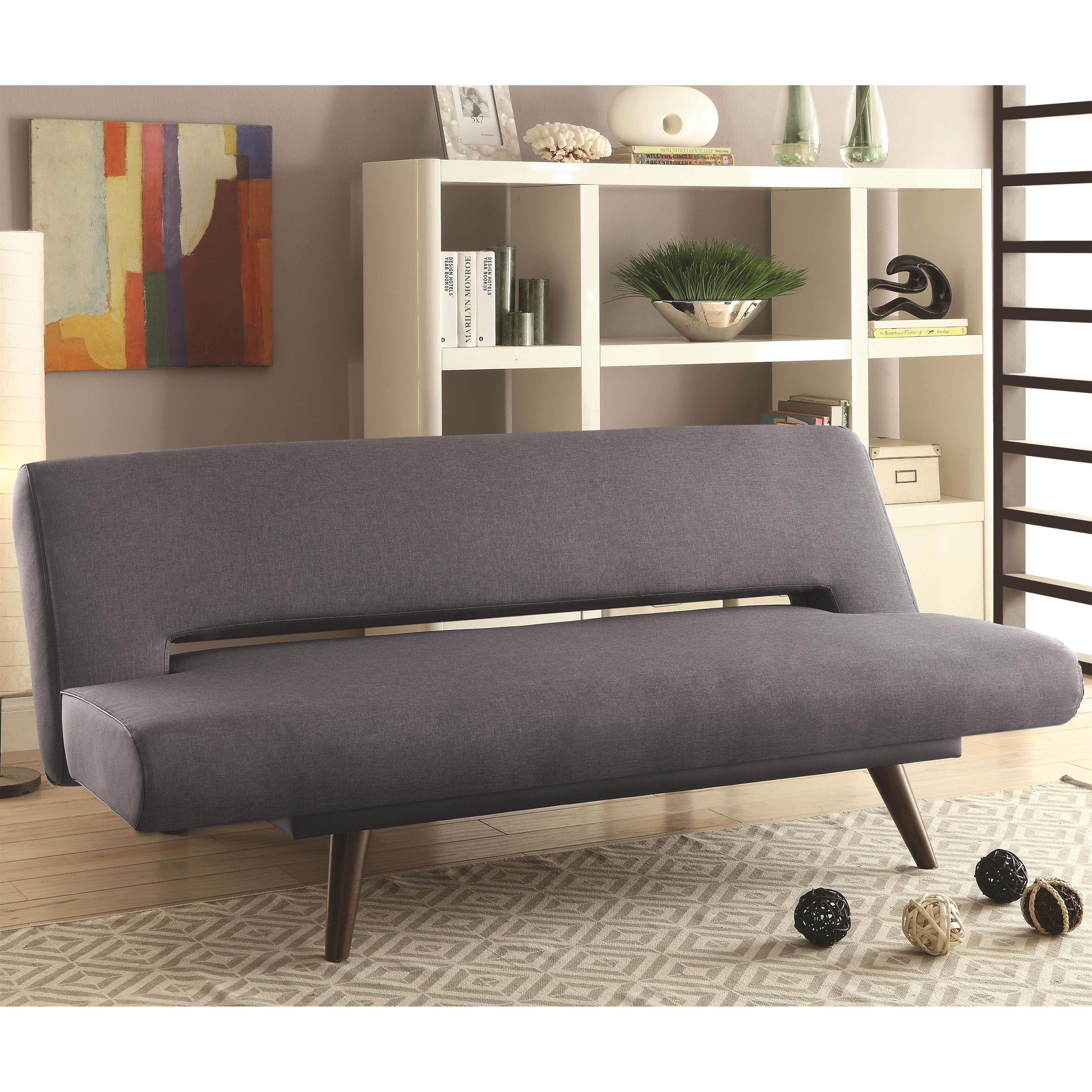 Coaster Sofa Beds and Futons 550139 Mid Century Modern Adjustable Sofa Bed  Dunk  Bright