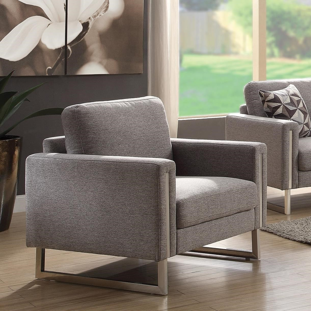 Coaster Stellan Upholstered Chair with UShaped Legs
