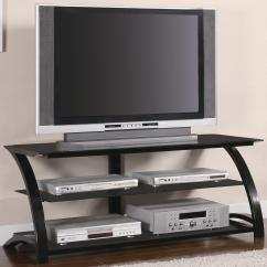 Living Room Tv Stand Wing Chairs For Coaster Stands Contemporary Metal And Glass Media Console Value
