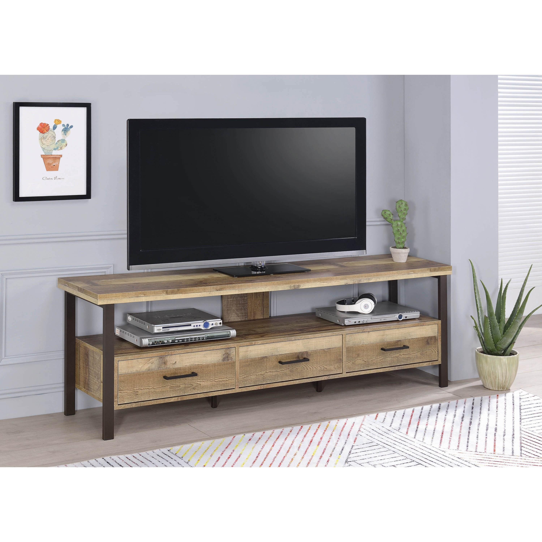 Coaster TV Stands 721891 Industrial 71 TV Stand Sam Levitz Furniture TV Stands
