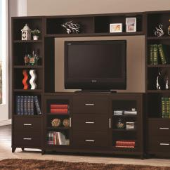 Sleek Tv Unit Design For Living Room Extra Large Sectionals Coaster Entertainment Units Cappuccino Wall