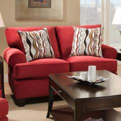 Living Room Loveseats Framed Pictures For Walls Corinthian Jackpot Red 47b2 Casual And Contemporary Loveseat