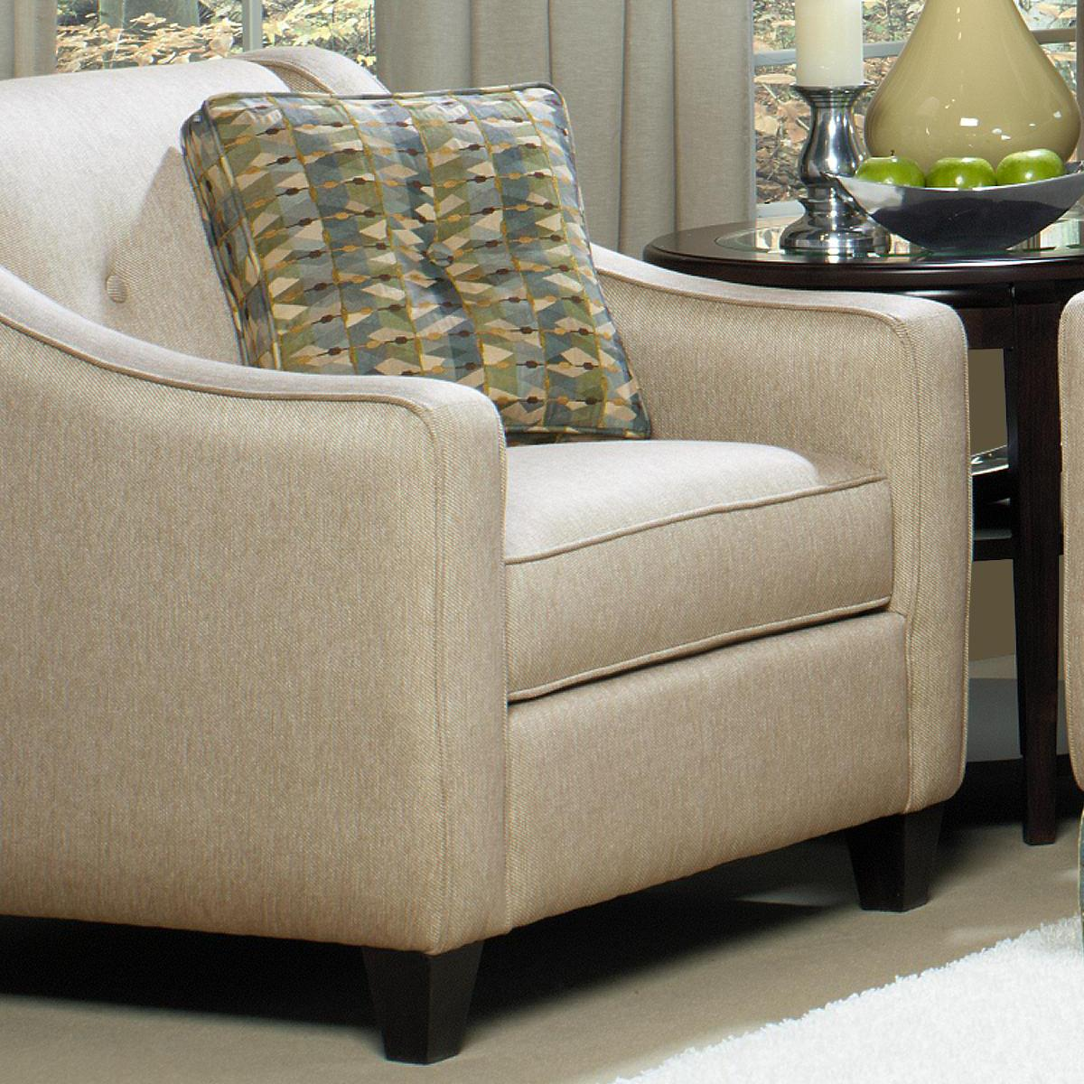 craftmaster chair and a half behind the awards 2018 7069 contemporary upholstered 1 2 with button