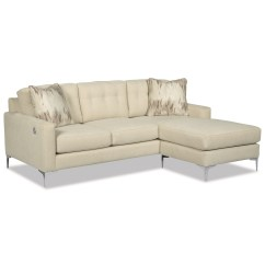 Sofa W Chaise Caliaitalia Leather Recliner Craftmaster 7661 Stationary Tufted With Lounge And Usb Port