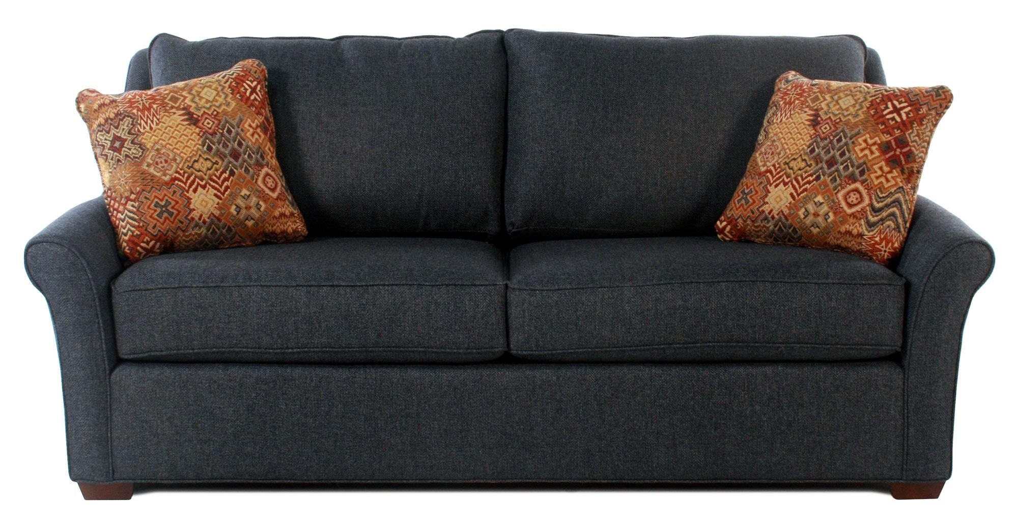 traditional sofa sleeper upholstery repair leeds flexsteel preston full with nailhead trim transitional queen w innerspring mattress revolution performance fabric