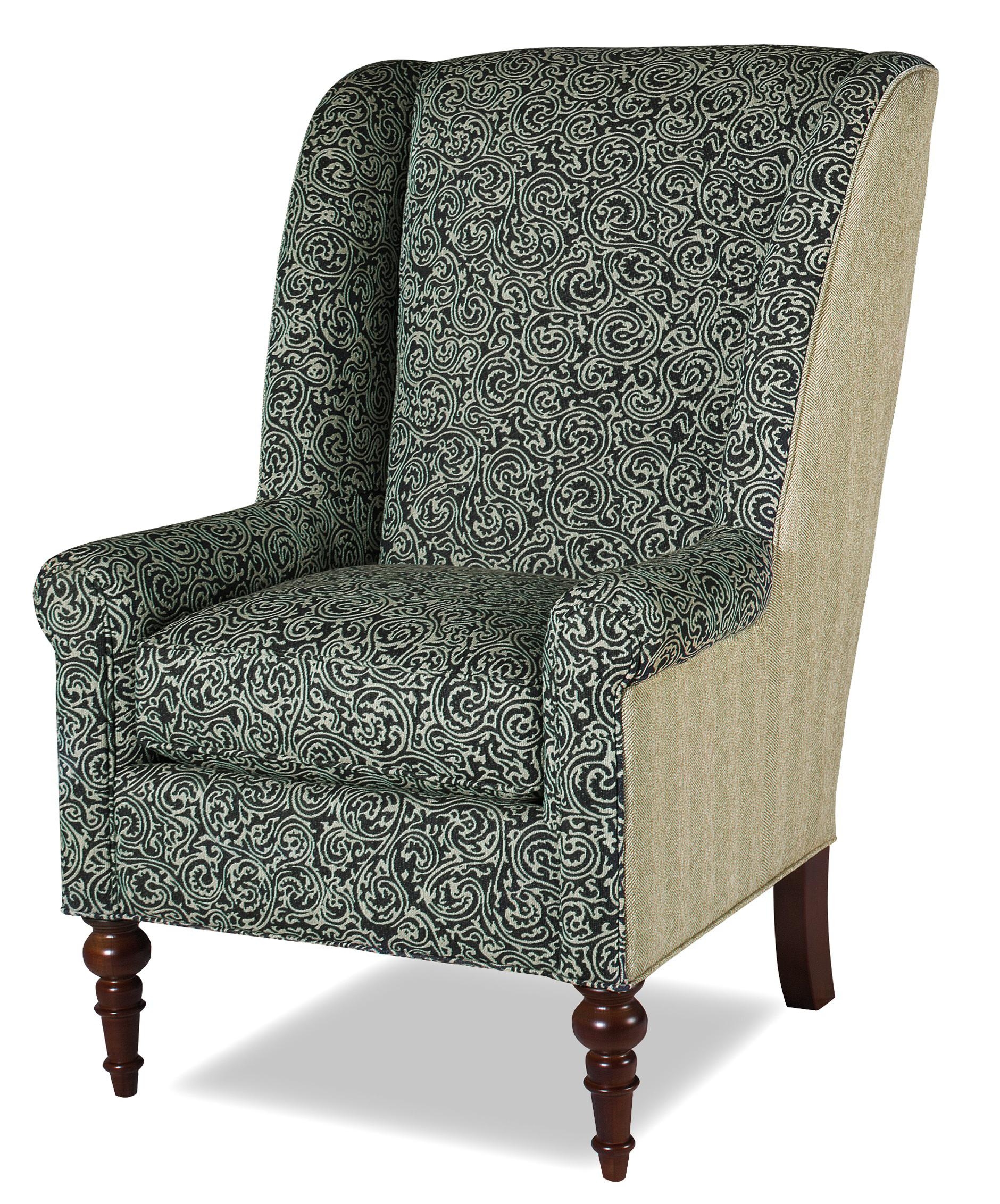craftmaster chair and a half leather swivel recliner stool accent chairs traditional with modified wing back