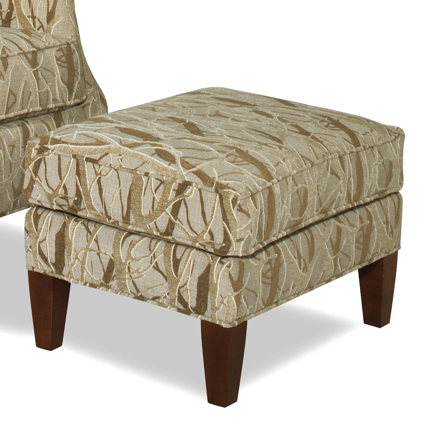 Chairs With Ottoman Accent Chairs Contemporary Ottoman With Tall Tapered Legs By Hickorycraft At Johnny Janosik