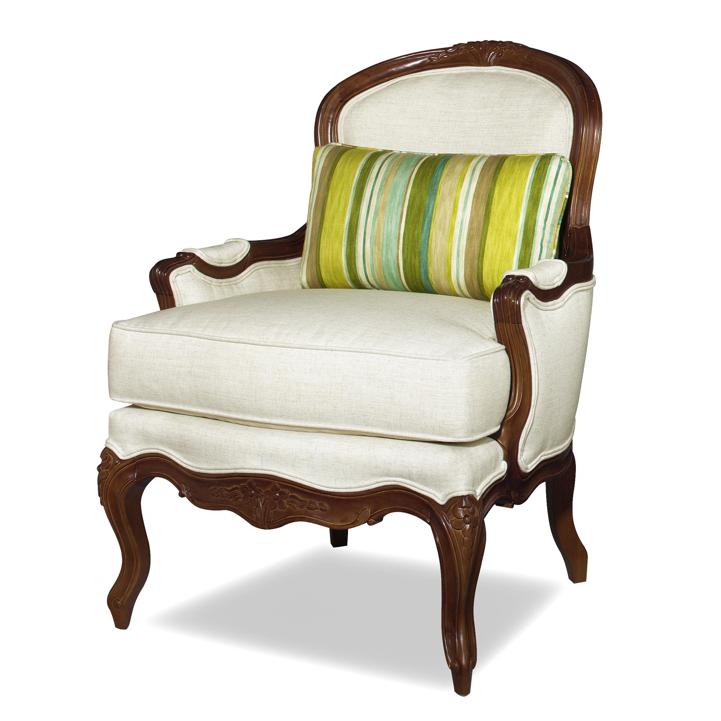 Craftmaster Accent Chairs Traditional Exposed Wood Accent