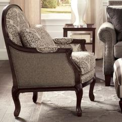 Wood Frame Accent Chairs Crazy Creek Original Chair Craftmaster Traditional With Cabriole Legs And Exposed