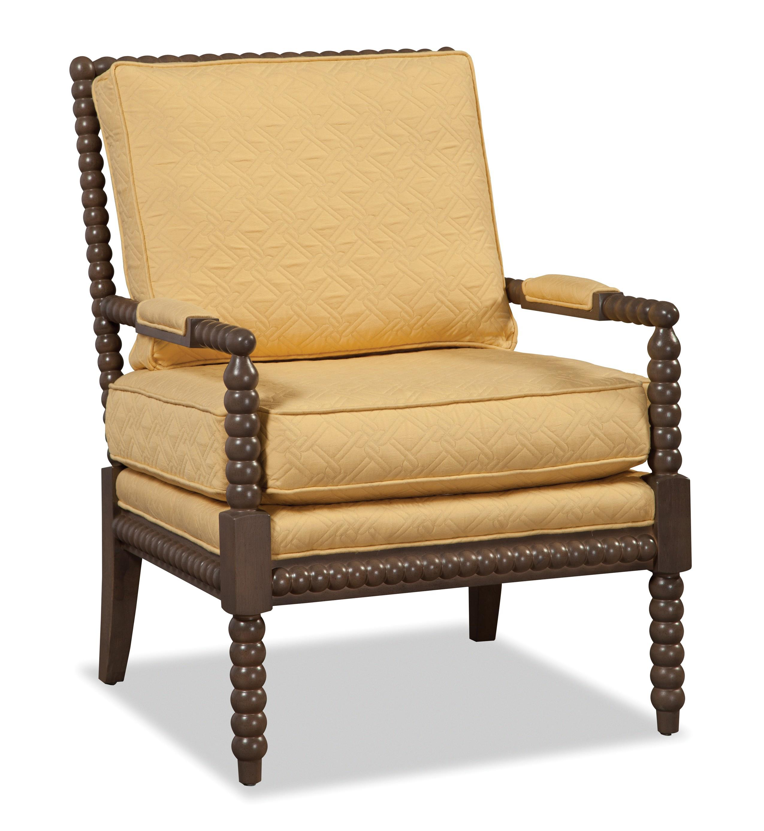 wood frame accent chairs chicco caddy hook on chair recall craftmaster traditional with spool turned exposed