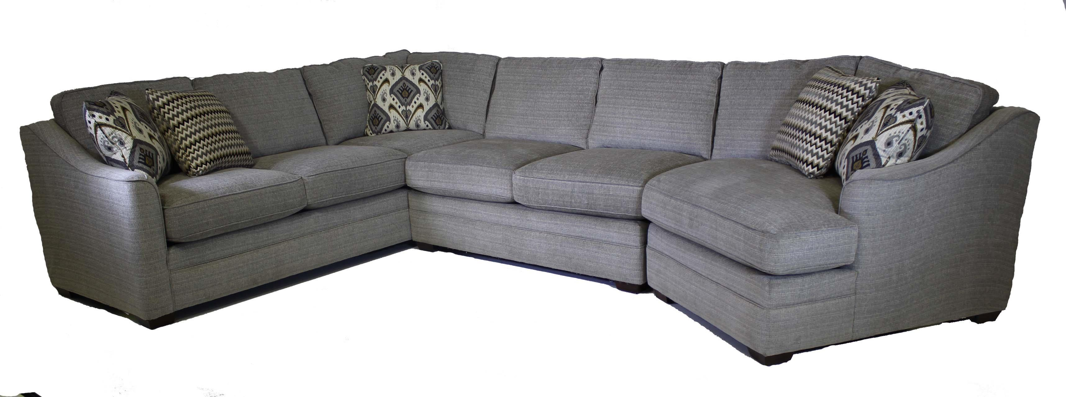 Craftmaster F9 Custom Collection Customizable 3Piece Sectional  Old Brick Furniture  Sofa