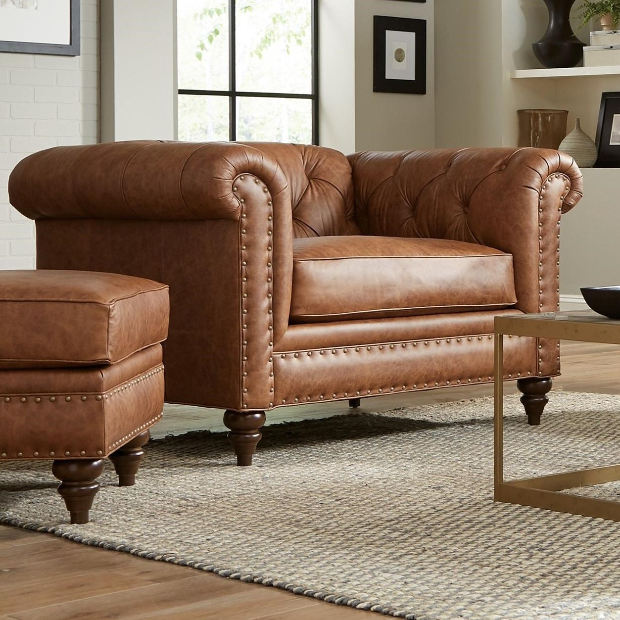 Craftmaster L743150 Traditional Leather Chesterfield