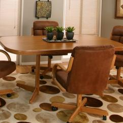 Value City Dining Table And Chairs Brown Leather Swivel Chair Cramco, Inc Cramco Motion - Atwood Rectangular Oak | Furniture Kitchen