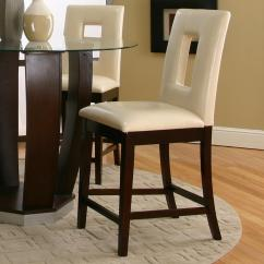 Value City Furniture Kitchen Tables Amish Island Cramco, Inc Contemporary Design - Emerson Ivory Vinyl Cut ...