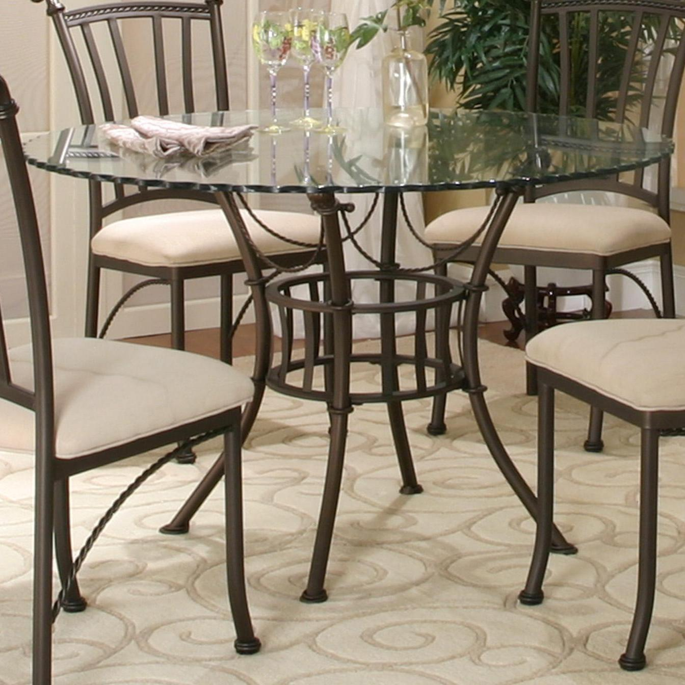 Cramco Inc Denali Round Glass Table Top With Molten Earth Base Value City Furniture Dining Room Table