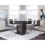 Cramco Inc Gamma Contemporary 7 Piece Counter Height Pub Dining Set Value City Furniture Pub Table And Stool Sets
