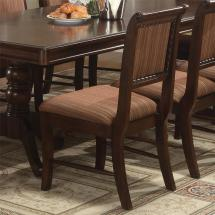 Crown Mark Merlot Dining Side Chair With Striped
