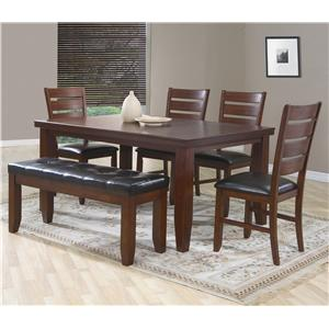 6 chair dining set best folding for bad back crown mark bardstown piece w 4 chairs bench