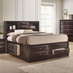 Crown Mark Emily Contemporary Queen Captain S Bed With Bookcase Headboard Catalog Outlet Captain S Beds