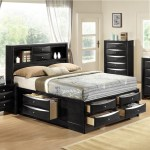 Crown Mark Emily Contemporary Queen Captain S Bed With Bookcase Headboard Corner Furniture Captain S Beds