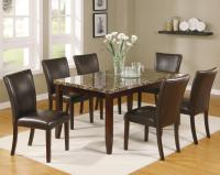 Crown Mark Ferrara 7 Piece Dining Table and Chairs Set ...
