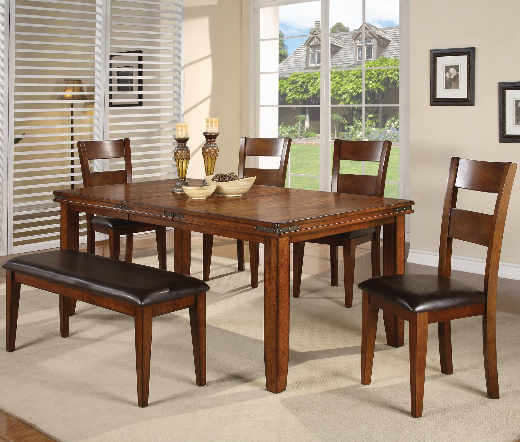 Sturdy Dining Room Chairs Figaro 6 Piece Dining Table And Side Chairs Set With Bench By Crown Mark At Royal Furniture