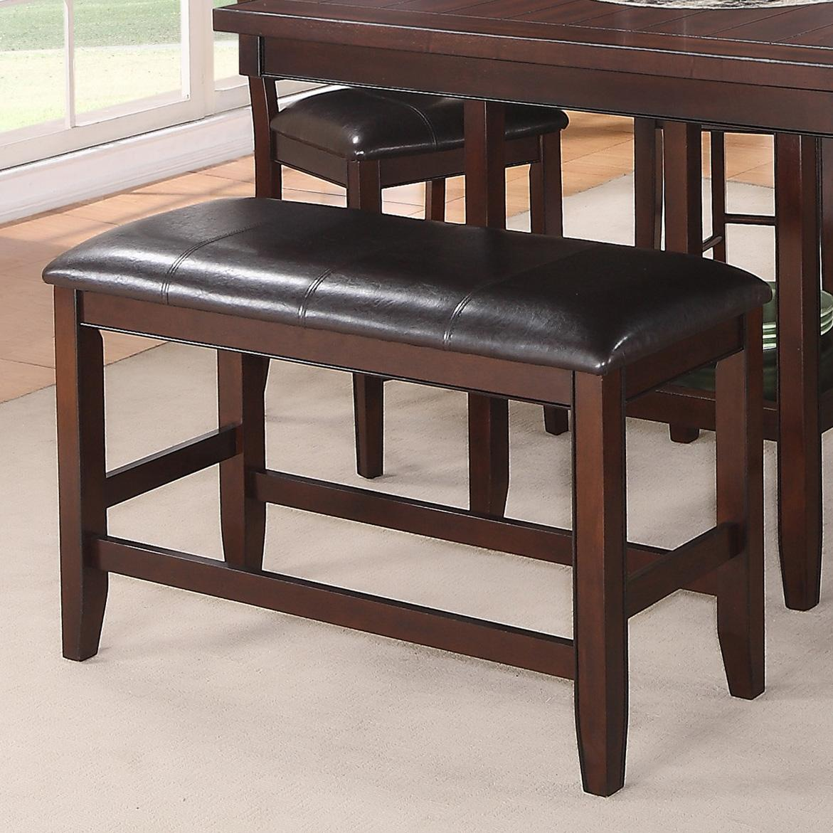 Crown Mark Fulton Counter Height Bench With Upholstered