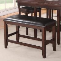 Crown Mark Fulton Counter Height Bench with Upholstered ...