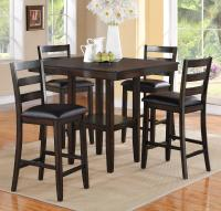 Crown Mark Tahoe 5 Piece Counter Height Table and Chairs ...