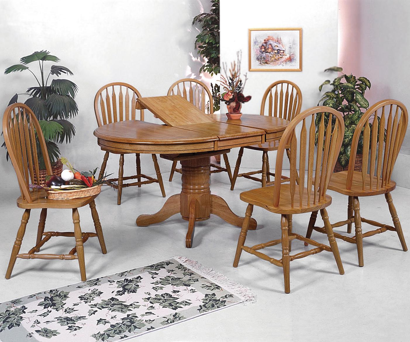 dining table set 6 chairs swivel chair ladder tree stand crown mark windsor solid 7 piece oval and side