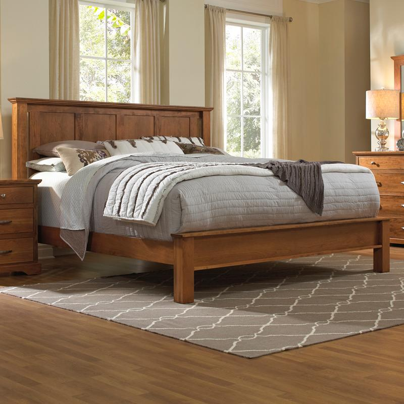 Daniels Amish Elegance Solid Wood King Bed with Low