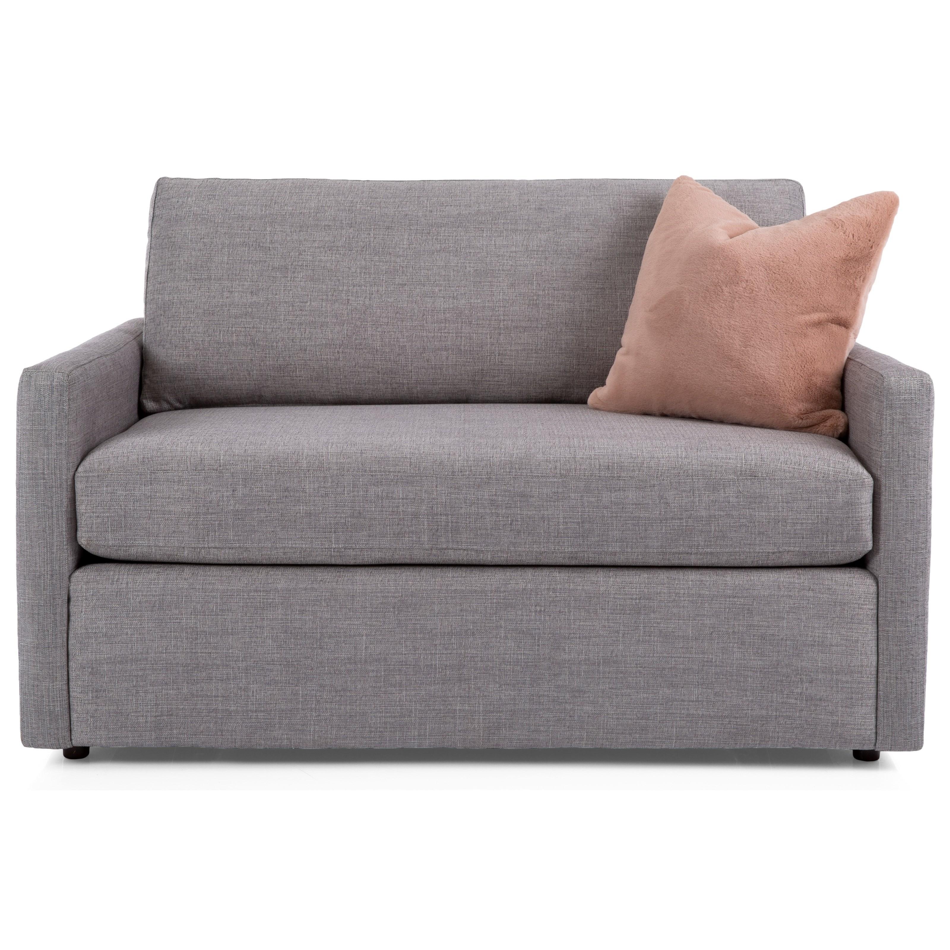 Decor Rest 2068 Contemporary Loveseat Twin Sleeper Stoney Creek Furniture Sleeper Sofas