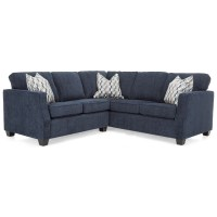 Decor-Rest 2570 Contemporary Sectional Sofa with Track ...