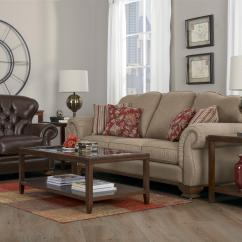 Serta Sofa Sleeper Full Size Baker Decor-rest 6933 Traditional With Exposed Wood Accents ...