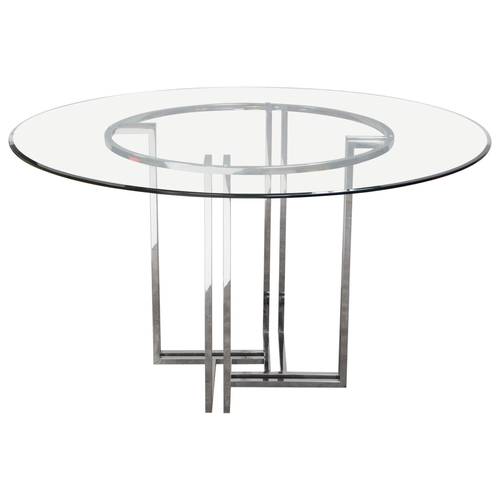 Diamond Sofa Deko Dekordt Polished Stainless Steel Round