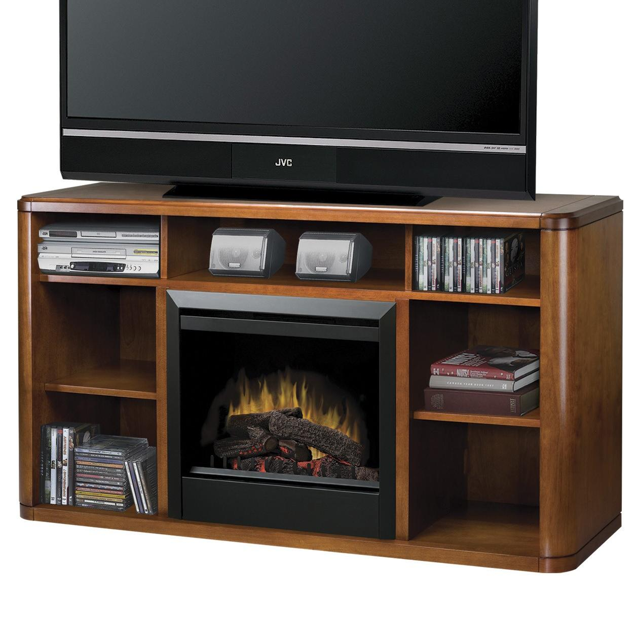 Dimplex Media Console Fireplaces DFP4974BW Logan Media Console Fireplace  Nassau Furniture  TV
