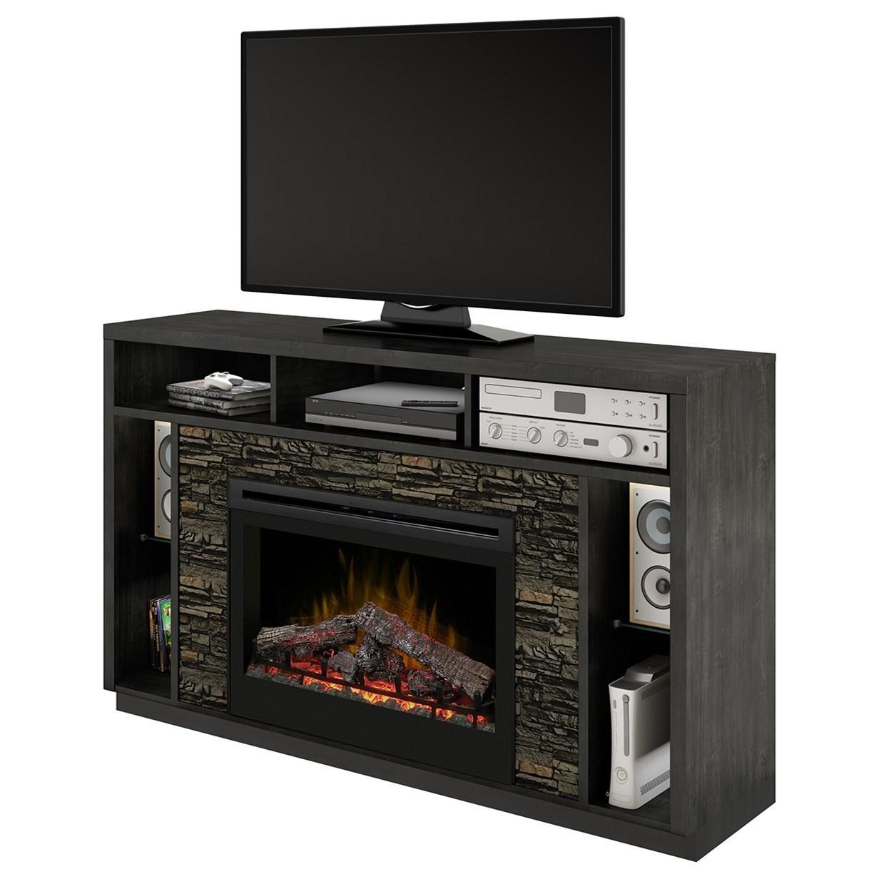 Dimplex Media Console Fireplaces GDS33L3DX1113 Joseph Media Mantel Fireplace  Becker Furniture
