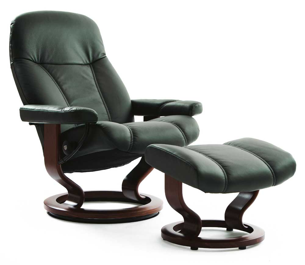 Stressless Consul 1005015 Medium Reclining Chair Amp Ottoman