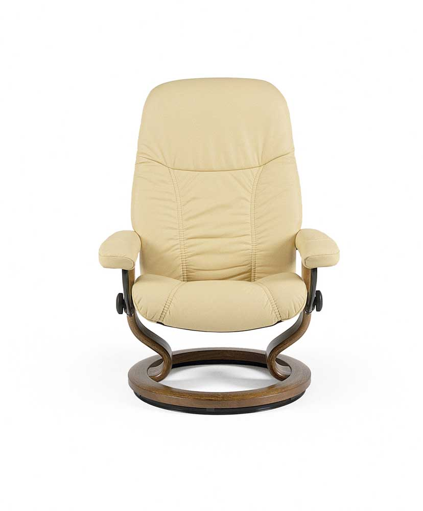 Stressless Consul 1145015 Small Reclining Chair  Ottoman
