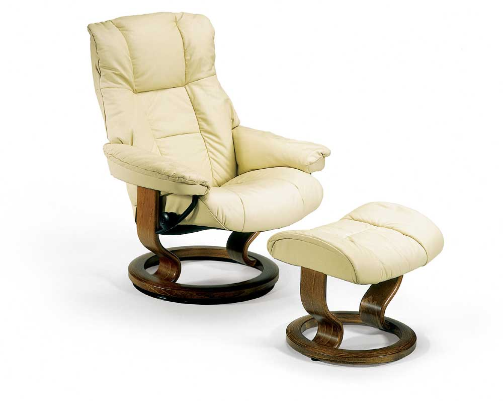 Stressless Mayfair Small Reclining Chair  Ottoman with