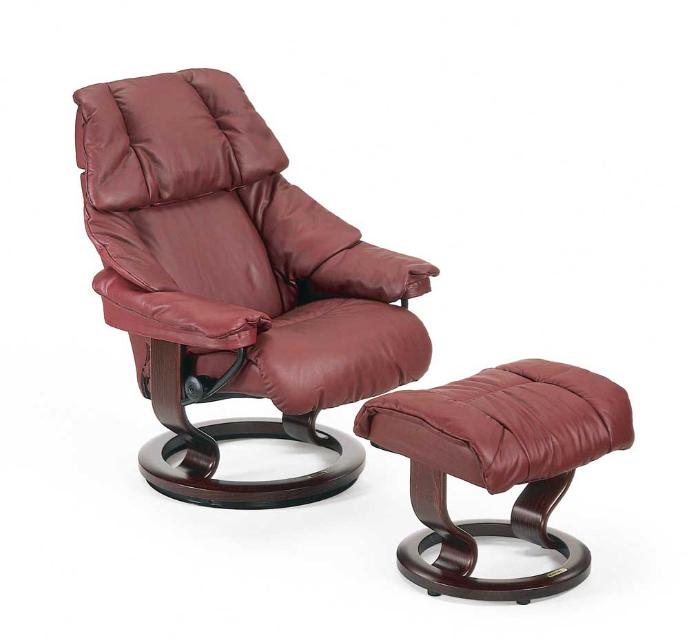 Stressless Reno 1031015 Small Reclining Chair  Ottoman