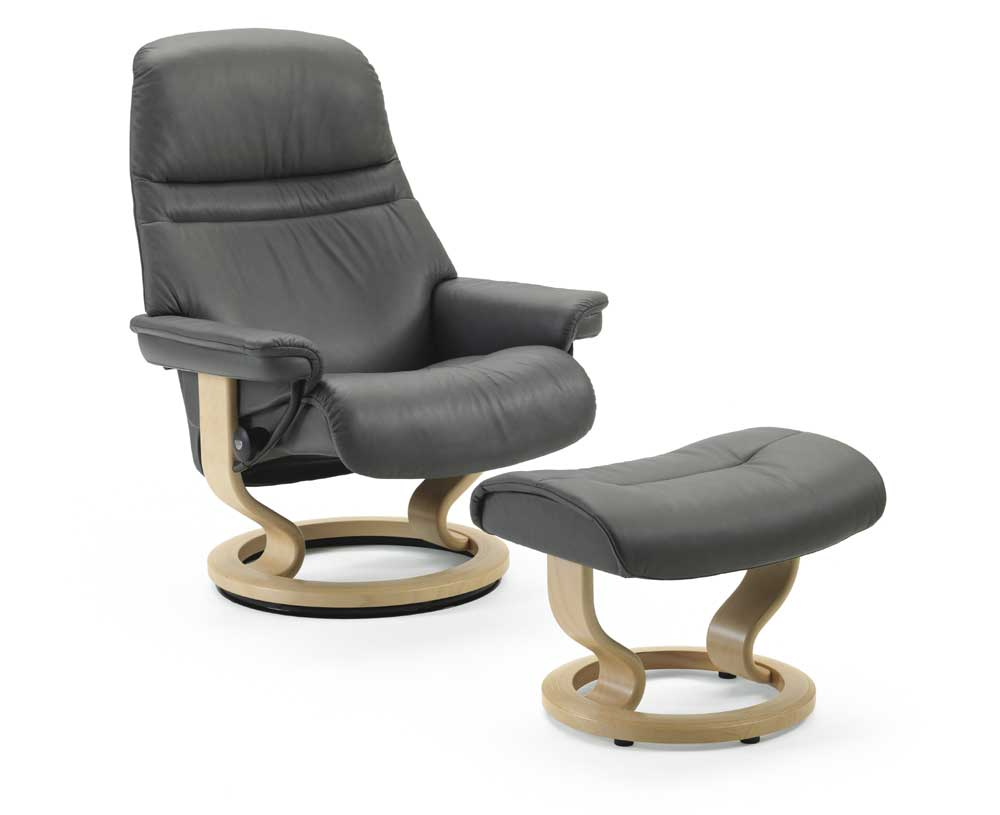 Stressless Sunrise 1219015 Small Reclining Chair Amp Ottoman
