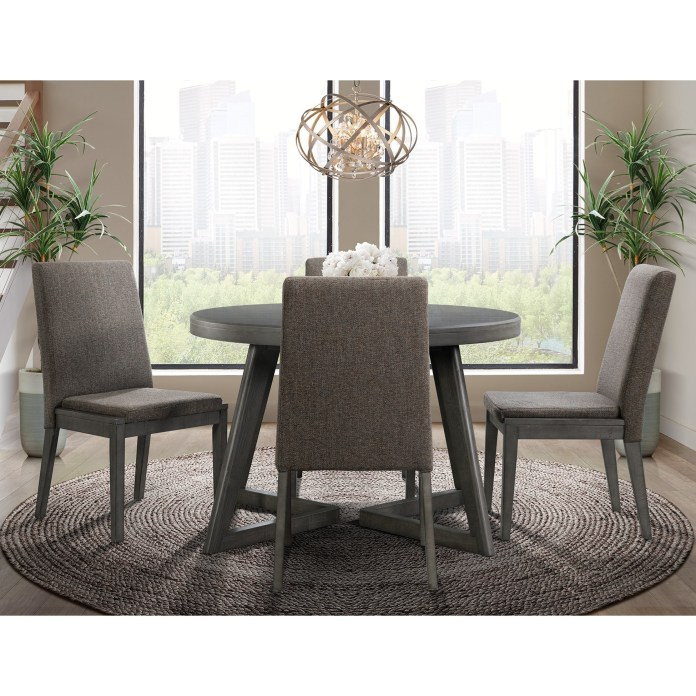 Elements Cross Contemporary 5 Piece Dining Set Royal Furniture Dining 5 Piece Sets